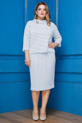 Комплект юбочный Anastasia 309 голубые тона