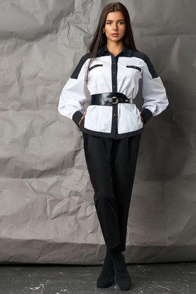 Комплект брючный Миа Мода 1061 черно-белый