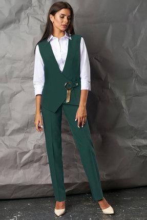 Комплект брючный Миа Мода 1067-1 зеленый
