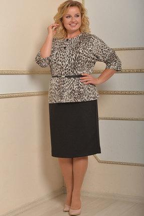 Комплект юбочный Lady Style Classic 1654 леопардовый с черным