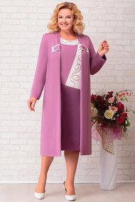Комплект плательный Aira Style 267 темно-розовые тона