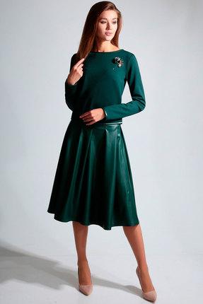 Комплект юбочный Axxa 26098в тёмно-зелёный