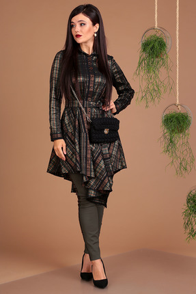 Комплект брючный Мода-Юрс 2493 коричневый