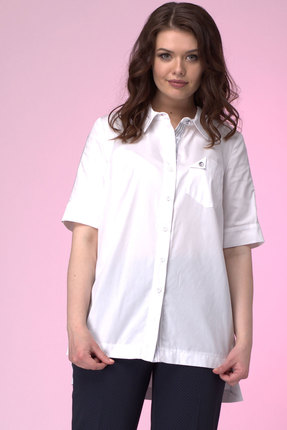 Купить со скидкой Рубашка Anelli 666 белые тона