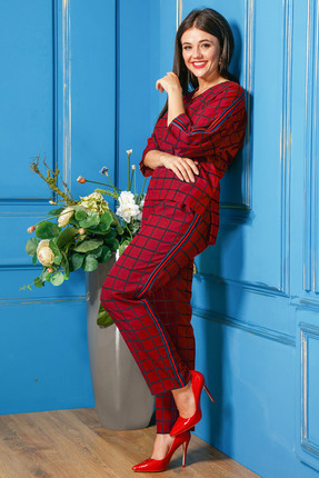 Комплект брючный Anastasia 315 красный