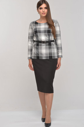 Комплект юбочный Elga 22-626 чёрный+белый