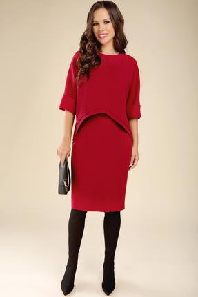 Комплект юбочный Teffi style 1427 красные тона