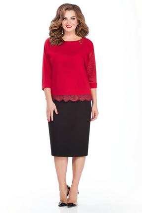 Комплект юбочный TEZA 132 черно-красный