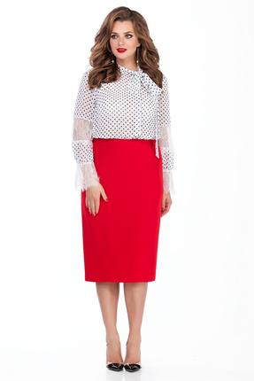 Комплект юбочный TEZA 135 красно-белый