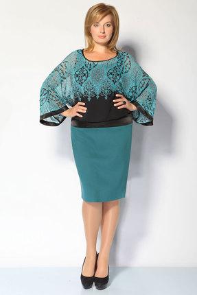 Фото - Платье FoxyFox 1531 бирюза цвет бирюза