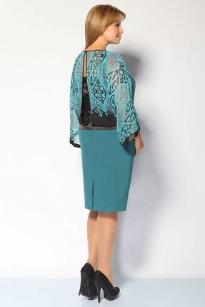 Фото 3 - Платье FoxyFox 1531 бирюза цвет бирюза