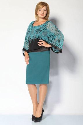 Фото 2 - Платье FoxyFox 1531 бирюза цвет бирюза
