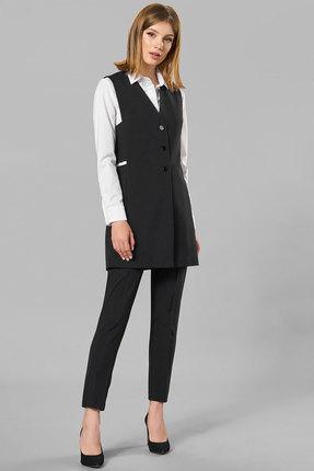 Комплект брючный Denissa Fashion 1261 черный