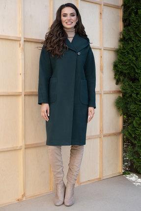 Пальто ЮРС 19-180-1 зеленый