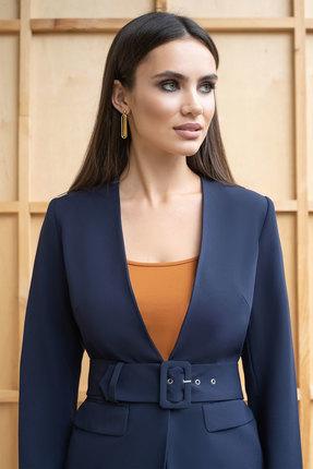 Фото 2 - Комплект брючный ЮРС 19-272-2 синий с оранжевым цвет синий с оранжевым