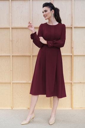Платье ЮРС 19-979-7 бордо
