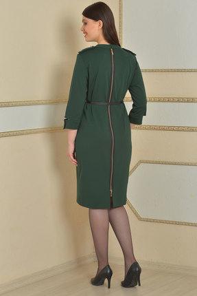 Фото 2 - Платье Lady Style Classic 425 зеленый зеленого цвета