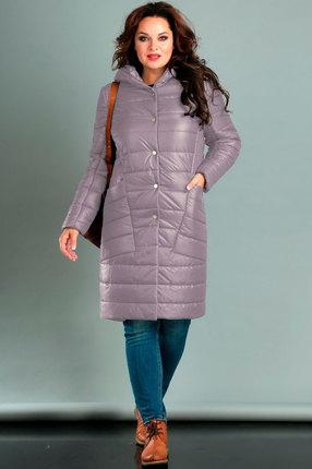 Пальто Jurimex 2042-3 серо-сиреневые тона