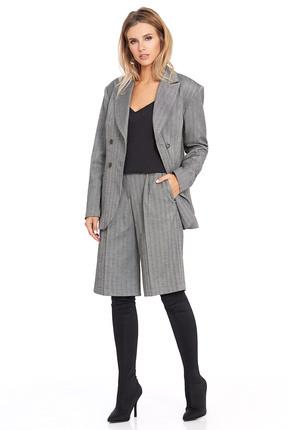 Комплект с шортами PIRS 804 серый