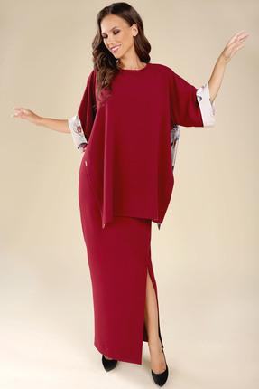 Комплект юбочный Teffi style 1285/1 бургунди