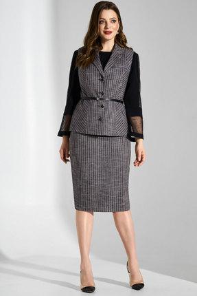 Комплект юбочный Lissana 3732 серый с черным
