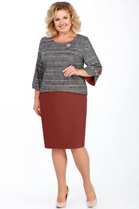 Комплект юбочный БагираАнТа 573 серый с бордо