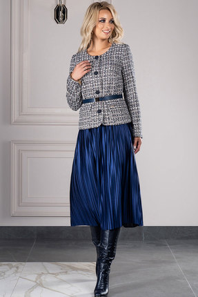 Комплект юбочный DilanaVIP 1380 синий с серым