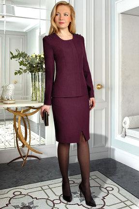 Комплект юбочный Миа Мода 986-4 бордо