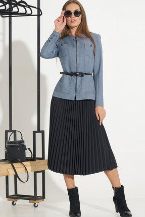 Комплект юбочный Ришелье 742 тёмно-синий+чёрный