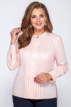 женская блузка lakona, персиковая