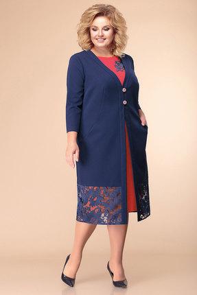 Фото - Комплект плательный Romanovich style 3-1874 синий с красным цвет синий с красным