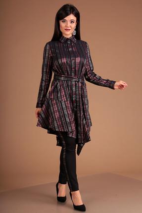 Фото 3 - Комплект брючный Мода-Юрс 2493 бордовый бордового цвета