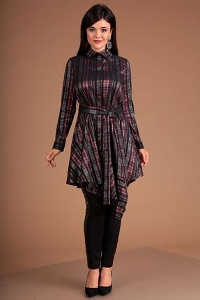 Фото - Комплект брючный Мода-Юрс 2493 бордовый бордового цвета