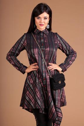 Фото 4 - Комплект брючный Мода-Юрс 2493 бордовый бордового цвета