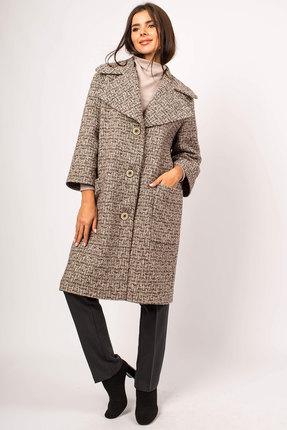 Пальто Миа Мода 1071 бежево-коричневый