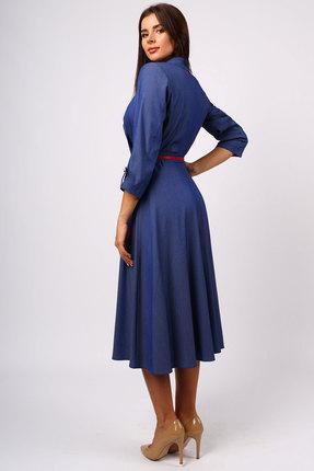 Фото 3 - Платье Миа Мода 1073 синий синего цвета