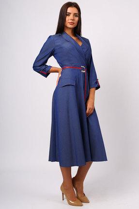 Фото 2 - Платье Миа Мода 1073 синий синего цвета