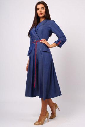 Фото - Платье Миа Мода 1073 синий синего цвета