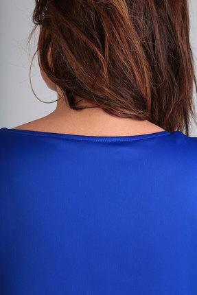 Фото 4 - Платье Andrea Style 00190 синий с черным цвет синий с черным