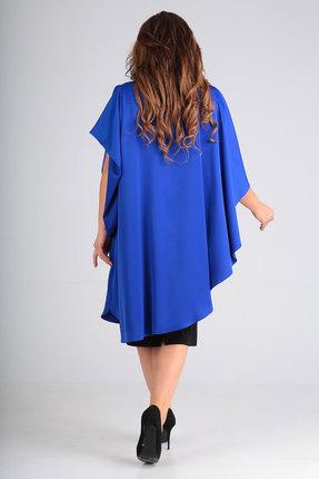 Фото 5 - Платье Andrea Style 00190 синий с черным цвет синий с черным