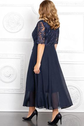 Фото 2 - Платье Mira Fashion 4653-2 тёмно-синий тёмно-синего цвета