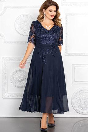 Фото - Платье Mira Fashion 4653-2 тёмно-синий тёмно-синего цвета