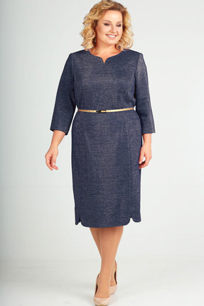 Фото - Платье Elga 01-628 тёмно-синий тёмно-синего цвета