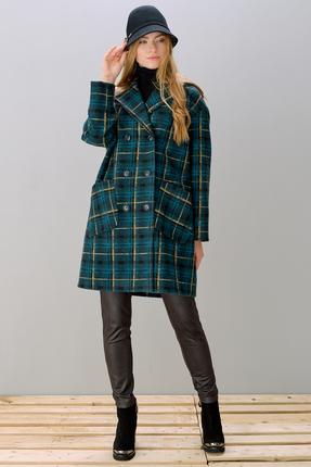Купить со скидкой Пальто Фантазия Мод 3534 бирюзовые тона