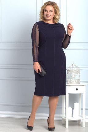 Платье Anelli 599 синий