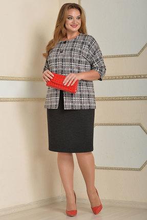 Купить со скидкой Комплект плательный Lady Style Classic 1717 серые тона
