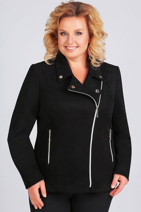 женская куртка асолия, черная