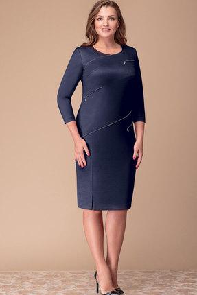 Платье Nadin-N 1715.1 тёмно-синий