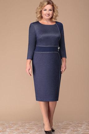 Платье Nadin-N 1583 тёмно-синий
