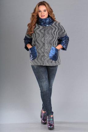 Куртка FoxyFox 32 серый с синим